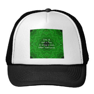 Amour de William Shakespeare et dire de sagesse de Casquette De Camionneur