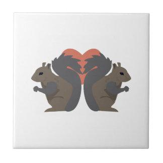 Amour d'écureuil carreaux en céramique