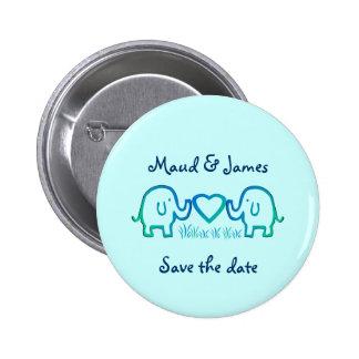 amour d'éléphant badge rond 5 cm