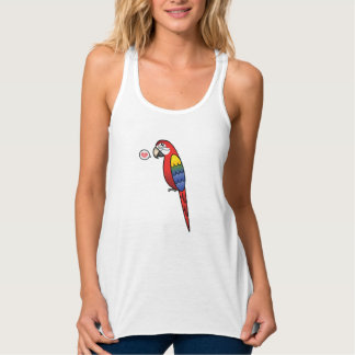 Amour d'oiseau de perroquet d'ara de bande débardeur