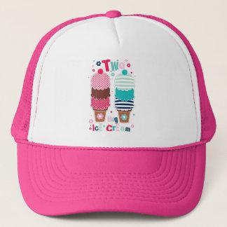 Amour doux du casse-croûte deux de desserts de casquette