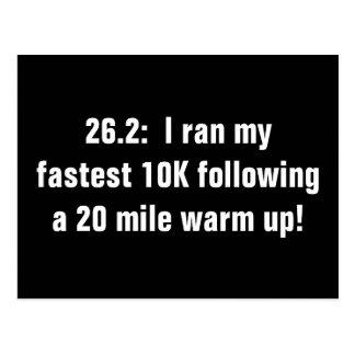 Amour du marathon 10K Carte Postale