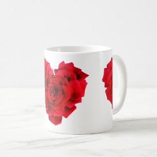 Amour en forme de coeur de rose rouge mug