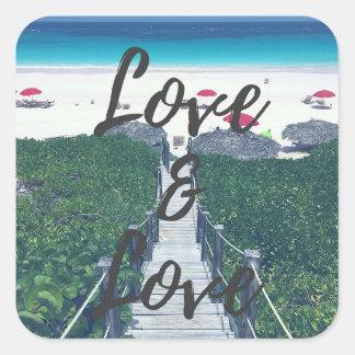 Amour et autocollant d'amour