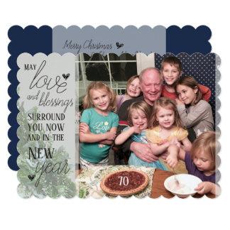 Amour et bénédictions - carte de Noël
