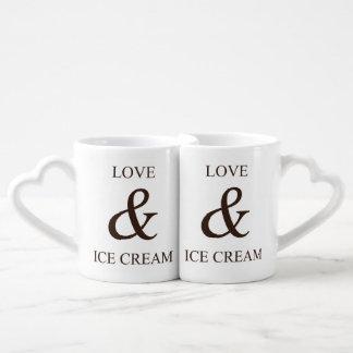 Amour et crème glacée mug
