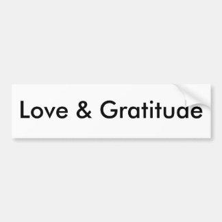 Amour et gratitude autocollant de voiture