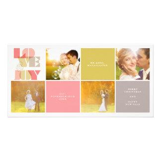 Amour et joie notre première carte de collage de