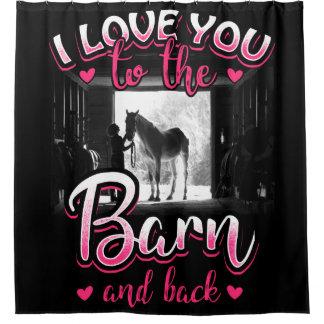 Amour et sport d'équitation rideaux de douche