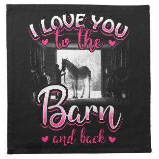 Amour et sport d'équitation serviettes de table