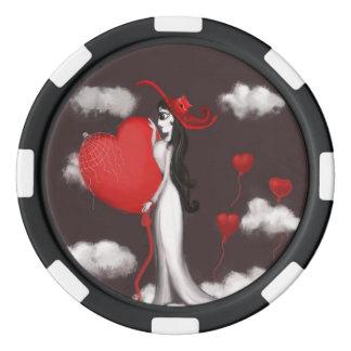 Amour et valenitne jetons de poker