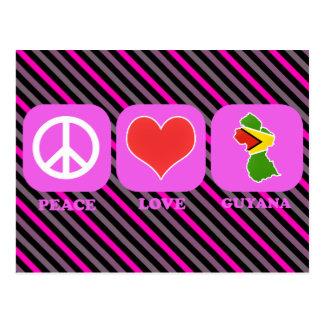 Amour Guyane de paix Carte Postale
