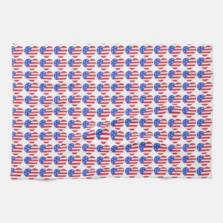 Amour les Etats-Unis drapeau patriotique de Linges De Cuisine