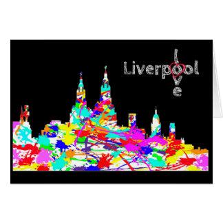 Amour Liverpool - carte de voeux d'horizon de