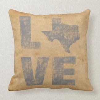 Amour patriotique rustique le Texas de carte Oreillers