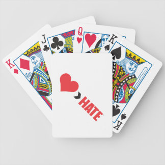 AMOUR PLUS GRAND QUE DES CARTES DE JEU DE HAINE JEU DE CARTES
