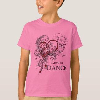 Amour pour danser le T-shirt d'enfants