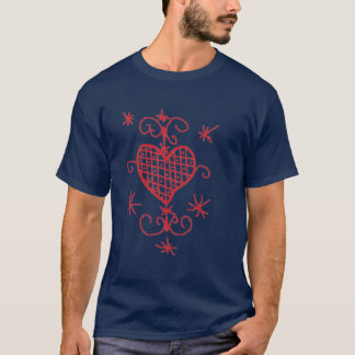 Amour rouge Sigil de porte-malheur de vaudou de T-shirt