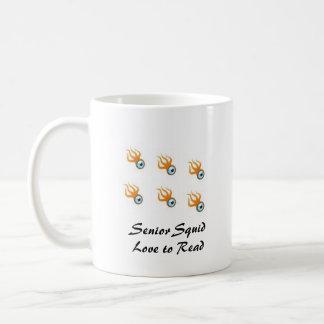 Amour supérieur de calmar à lire mug