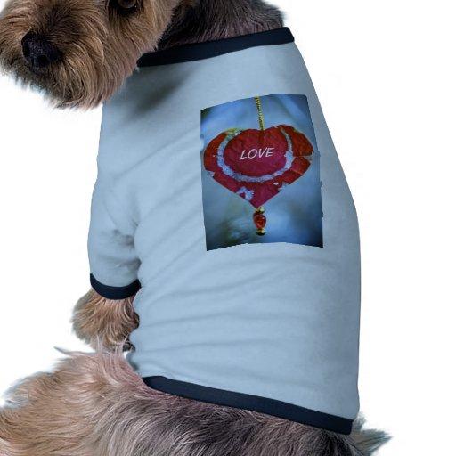 Amour T-shirt Pour Chien