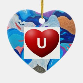 Amour U de flèche Ornement Cœur En Céramique