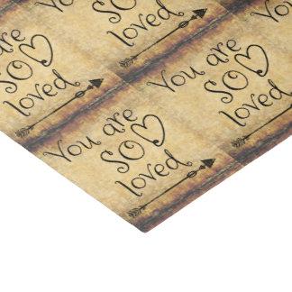 Amour vintage avec la citation papier mousseline