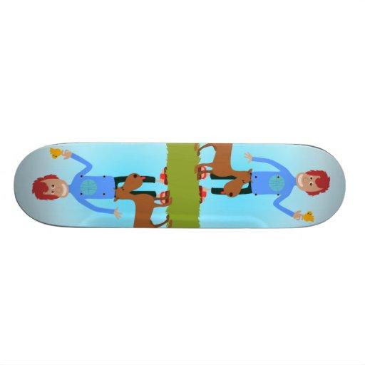 Amoureux des animaux skateboards personnalisés