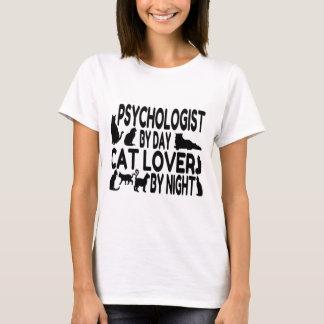 Amoureux des chats de psychologue t-shirt