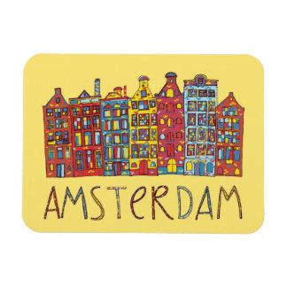 Amsterdam dans la mosaïque magnet flexible