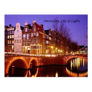 Amsterdam, ville des lumières (par St.K.) Carte Postale