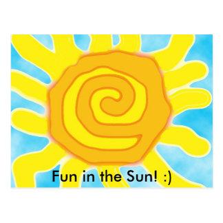 Amusement au soleil ! :) carte postale