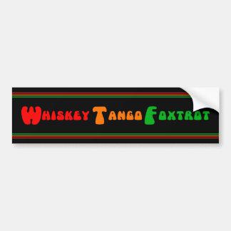Amusement de fox-trot de tango de whiskey de WTF Autocollant De Voiture