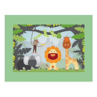 Amusement de jungle carte postale