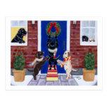 Amusement de Noël de labrador retriever Carte Postale