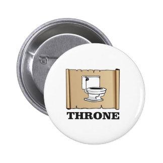 amusement de trône de toilette badge rond 5 cm