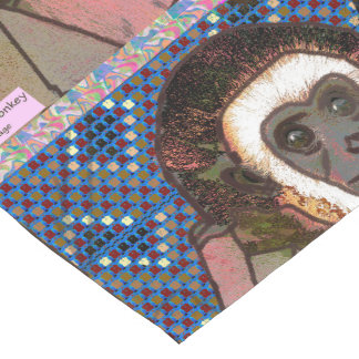 """"""" amusement de zoo d'animal sauvage de singe de chemin de table court"""