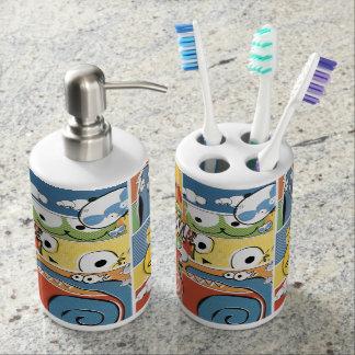 Amusement et distributeur de savon et support