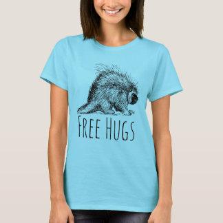 Amusement frais et porc-épic libre drôle t-shirt