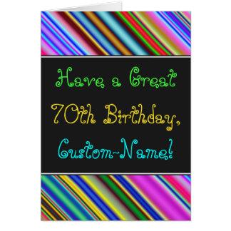 Amusement, soixante-dixième carte d'anniversaire