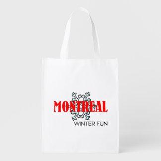 Amusement SUPÉRIEUR d'hiver de Montréal Sac Réutilisable D'épcierie