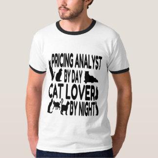 Analyste d'évaluation d'amoureux des chats t-shirt