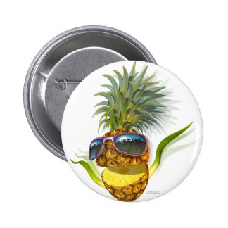 ananas badge rond 5 cm