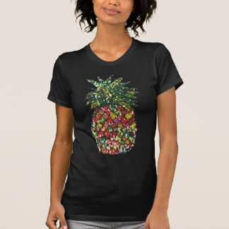Ananas coloré pailleté de Faux chic super T-shirt