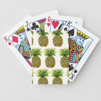 Ananas d'aquarelle jeu de cartes