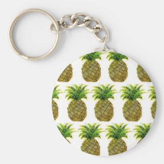 Ananas d'aquarelle porte-clés