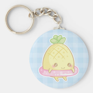 Ananas de Kawaii dans le porte - clé rose mignon Porte-clés