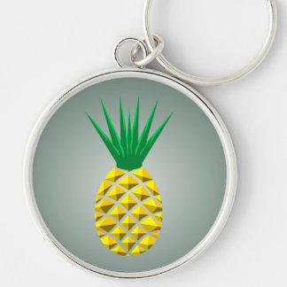 Ananas géométrique porte-clés