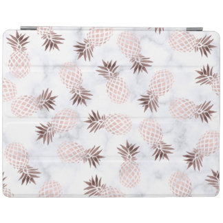 ananas rose d'or de marbre blanc moderne élégant protection iPad