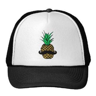 Ananas tropical drôle avec la moustache casquette
