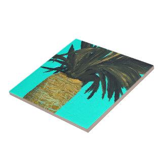 Ananas tropical peignant le carreau de céramique
